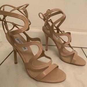 Nude strappy elegant Steve Madden heels